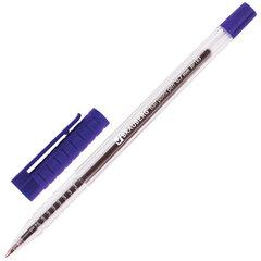 """Ручка шариковая BRAUBERG """"Flash"""", СИНЯЯ, корпус прозрачный, узел 0,7 мм, линия письма 0,35 мм, 141031"""