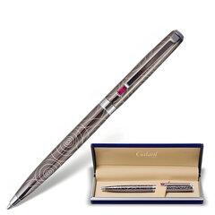 """Ручка подарочная шариковая GALANT """"Kawasaki"""", корпус серебристый с гравировкой, хромированные детали, пишущий узел 0,7 мм, синяя"""