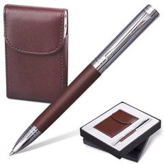 """Набор GALANT """"Prestige Collection"""": ручка, визитница, темно-коричневый, подарочная коробка"""