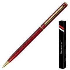 """Ручка подарочная шариковая BRAUBERG """"Slim Burgundy"""", корпус бордо, узел 1 мм, линия письма 0,7 мм, синяя, 141403"""