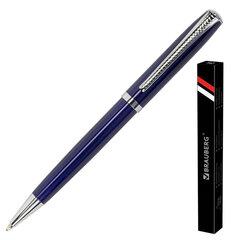 """Ручка подарочная шариковая BRAUBERG """"Cayman Blue"""", корпус синий, узел 1 мм, линия письма 0,7 мм, синяя, 141409"""