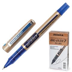 """Ручка-роллер ZEBRA """"Zeb-Roller DX7"""", корпус золотистый, узел 0,7 мм, линия 0,35 мм, синяя"""