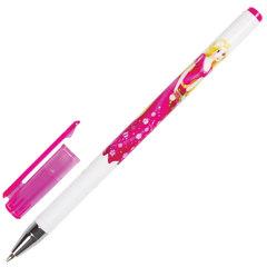 """Ручка шариковая BRAUBERG """"Леди"""", СИНЯЯ, корпус с печатью, узел 0,7 мм, линия письма 0,35 мм, 141537"""