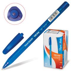 """Ручка шариковая PAPER MATE """"Inkjoy 100"""", корпус тонированный синий, узел 0,7 мм, линия 0,5 мм, синяя"""