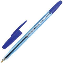"""Ручка шариковая BRAUBERG """"Carina Blue"""", СИНЯЯ, корпус тонированный синий, узел 1 мм, линия письма 0,5 мм, 141669"""