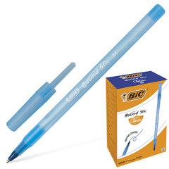 """Ручка шариковая BIC """"Round Stic"""", СИНЯЯ, корпус голубой, узел 1 мм, линия письма 0,32 мм, 921403"""