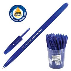 """Ручка шариковая масляная СТАММ """"Тонкая линия письма"""", СИНЯЯ, корпус синий, узел 1,2 мм, линия письма 0,7 мм, РК20"""