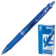 """Ручка шариковая автоматическая с грипом PILOT """"Acroball"""", СИНЯЯ, корпус тонированный синий, узел 0,7 мм, линия письма 0,28 мм, BPAB-15F"""