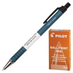 Ручка шариковая масляная автоматическая PILOT, СИНЯЯ, корпус синий, узел 0,7мм, линия письма 0,32мм, BPRK-10M