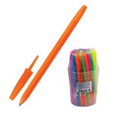"""Ручка шариковая СТАММ """"Оптима"""", СИНЯЯ, корпус неоновый ассорти, узел 1,2 мм, линия письма 0,7 мм, РО10"""
