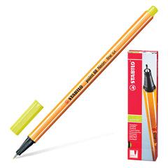 """Ручка капиллярная STABILO """"Point"""", корпус оранжевый, толщина письма 0,4 мм, неоновая желтая"""