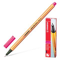 """Ручка капиллярная STABILO """"Point"""", корпус оранжевый, толщина письма 0,4 мм, неоновая розовая"""