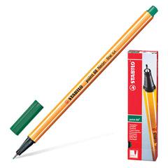 """Ручка капиллярная (линер) STABILO """"Point 88"""", ЗЕЛЕНОВАТО-БИРЮЗОВАЯ, корпус оранжевый, линия письма 0,4 мм, 88/53"""