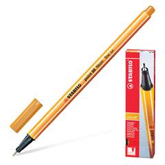 """Ручка капиллярная STABILO """"Point"""", корпус оранжевый, толщина письма 0,4 мм, оранжевая"""