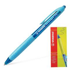 """Ручка шариковая STABILO автоматическая """"Performer+"""", корпус сине-голубой, толщина письма 0,3 мм, синяя"""