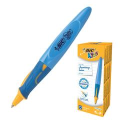 """Ручка шариковая с грипом BIC """"Kids Twist"""", СИНЯЯ, для детей, корпус голубой, узел 1 мм, линия письма 0,32 мм, 918457"""
