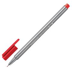 Ручка капиллярная STAEDTLER (Германия), трехгранная, толщина письма 0,3 мм, красная