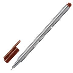 Ручка капиллярная STAEDTLER (Германия), трехгранная, толщина письма 0,3 мм, коричневая
