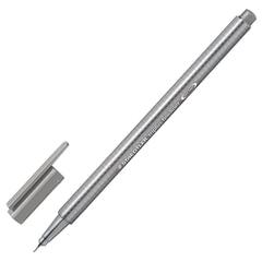 Ручка капиллярная STAEDTLER (Германия), трехгранная, толщина письма 0,3 мм, серая