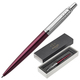 """Ручка шариковая PARKER """"Jotter Core Portobello Purple CT"""", корпус пурпурный, хромированные детали, синяя"""