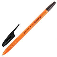 """Ручка шариковая BRAUBERG """"X-333 Orange"""", ЧЕРНАЯ, корпус оранжевый, узел 0,7 мм, линия письма 0,35 мм"""