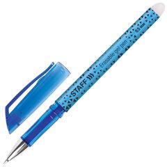 """Ручка стираемая гелевая STAFF """"College EGP-101"""", СИНЯЯ, хромированные детали, узел 0,5 мм, линия письма 0,35 мм, 142494"""
