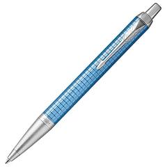 """Ручка шариковая PARKER """"IM Premium Blue CT"""", корпус голубой, анодированный алюминий с гравировкой, хром, 1931691, синяя"""