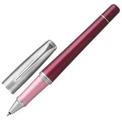 """Ручка-роллер подарочная PARKER """"Urban Premium Dark Purple CT"""", темно-пурпурный корпус, хромированные детали, черная, 1931570"""