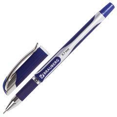 """Ручка шариковая масляная с грипом BRAUBERG """"Sigma Plus"""", СИНЯЯ, печать, узел 0,7 мм, линия письма 0,35 мм, 142689"""