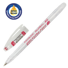 "Ручка шариковая масляная PENSAN ""Global-21"", КРАСНАЯ, корпус прозрачный, узел 0,5 мм, линия письма 0,3 мм, 2221"