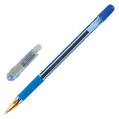 """Ручка шариковая масляная с грипом MUNHWA """"MC Gold"""", СИНЯЯ, корпус тонированный синий, узел 0,7 мм, линия письма 0,5 мм"""