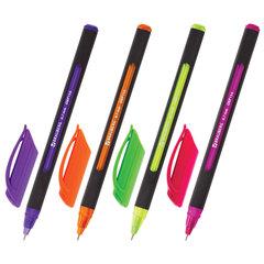 """Ручка шариковая масляная BRAUBERG """"Extra Glide Soft Color"""", СИНЯЯ, узел 0,7 мм, линия письма 0,35 мм, 142928"""