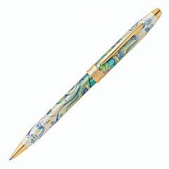"""Ручка подарочная шариковая CROSS Botanica """"Зеленая лилия"""", лак, латунь, позолота, черная, AT0642-4"""
