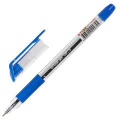 """Ручка шариковая масляная с грипом STAFF """"Profit"""", СИНЯЯ, игольчатый узел 0,7 мм, линия письма 0,35 мм, 142988"""