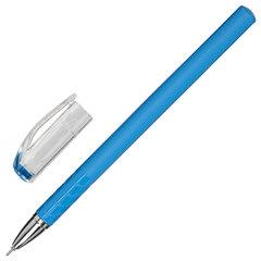 """Ручка гелевая STAFF """"College"""", СИНЯЯ, корпус синий, игольчатый узел 0,6 мм, линия письма 0,3 мм, 143017"""