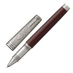 """Ручка-роллер PARKER """"Premier Custom Crimson Red RT"""", корпус красный, детали рутений, черная, 1972064"""