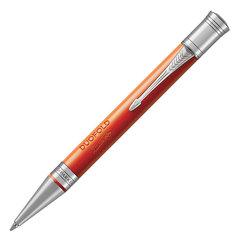"""Ручка шариковая PARKER """"Duofold Classic Big Red Vintage CT"""", акриловая смола, корпус красный, черная, 1931379"""
