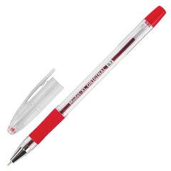 """Ручка шариковая масляная с грипом BRAUBERG """"Model-XL"""" ORIGINAL, КРАСНАЯ, узел 0,7 мм, линия письма 0,35 мм, 143244"""