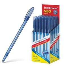 """Ручка шариковая ERICH KRAUSE """"Neo Original"""", СИНЯЯ, корпус тонированный синий, 0,7 мм, линия письма 0,26 мм"""