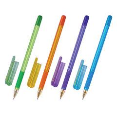 """Ручка шариковая масляная с грипом MUNHWA """"MC Gold LE"""", СИНЯЯ, корпус ассорти, узел 0,5 мм, MCL-02"""