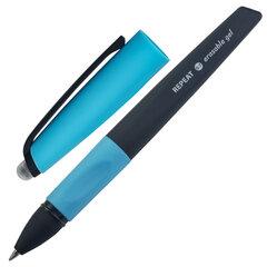 Ручка стираемая гелевая с эргономичным грипом BRAUBERG REPEAT, СИНЯЯ, узел 0,7 мм, линия письма 0,5 мм, 143662