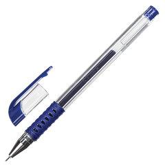 Ручка гелевая с грипом STAFF Basic Needle, СИНЯЯ, игольчатый узел 0,5 мм, линия письма 0,35 мм, 143678