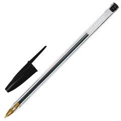 """Ручка шариковая STAFF """"Basic BP-01"""", письмо 750 метров, ЧЕРНАЯ, длина корпуса 14 см, узел 1 мм, 143737"""