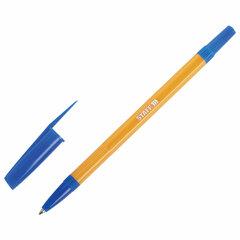 """Ручка шариковая STAFF """"Basic Orange BP-03"""", СИНЯЯ, корпус оранжевый, узел 1 мм, линия письма 0,5 мм, 143741"""