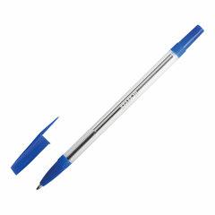 """Ручка шариковая STAFF """"Basic BP-03"""", СИНЯЯ, корпус прозрачный, узел 1 мм, линия письма 0,5 мм, 143742"""