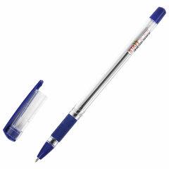 """Ручка шариковая масляная с грипом STAFF """"Basic OBP-11"""", СИНЯЯ, узел 1 мм, линия письма 0,5 мм, 143744"""