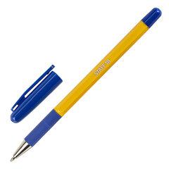 """Ручка шариковая с грипом STAFF """"Basic BP-14 Orange"""", СИНЯЯ, узел 0,7 мм, линия письма 0,35 мм, 143747"""