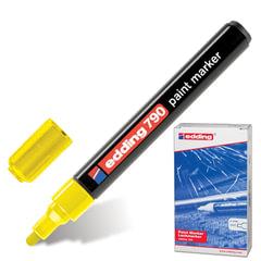 Маркер-краска лаковый EDDING, 2-4 мм, круглый наконечник, пластиковый корпус, желтый