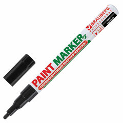 Маркер-краска лаковый (paint marker) 2 мм, ЧЕРНЫЙ, БЕЗ КСИЛОЛА (без запаха), алюминий, BRAUBERG PROFESSIONAL, 150868