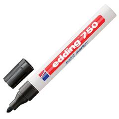 Маркер-краска лаковый EDDING 2-4 мм, круглый наконечник, алюминиевый корпус, черный